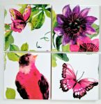 4 Ceramic Coasters in Laura Ashley Floral Heritage